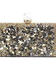 cheap -Women's Bags Evening Bag Crystals Party Wedding Event / Party Evening Bag Wedding Bags Handbags Black Gold Silver