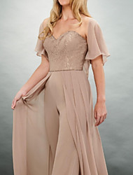 cheap -Short Sleeve Shrugs Chiffon Wedding / Party / Evening Women's Wrap With Solid