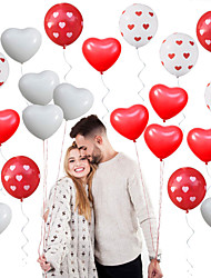 cheap -Party Balloons 40 pcs Heart Valentine's Day Party Supplies Latex Balloons Boys and Girls Party Wedding Decoration 12inch for Party Favors Supplies or Home Decoration