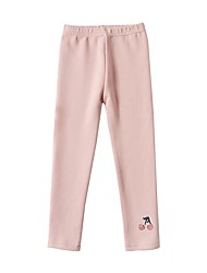 cheap -Kids Girls' Basic Cherry Solid Colored Pants Black