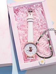cheap -Kids Quartz Watches Quartz Modern Style Stylish New Arrival Chronograph Analog White Black Blue / PU Leather