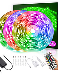 cheap -LED Strip Lights  15M 2835 RGB Light Strips Color Changing Rope Lights Flexible Tape Light Kit with 44 Keys Remote Controller & 12V Power Supply