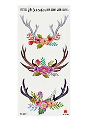 cheap -6 Sheets Randomly Tattoo Designs Temporary Tattoos Flower Butterfly Fox Panda Design Tattoo Stickers Fashion Waterproof Design Tattoo StickersTL001-TL010