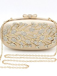 cheap -Women's Crystals Leather Evening Bag 2020 Gold