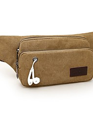 cheap -Men's Bags Canvas Fanny Pack Canvas Bag Daily Outdoor Black Army Green Khaki Brown