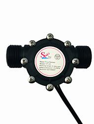 cheap -Water Pipe Flow Meter Sensor Counter Indicator Hall Water Heater Accessories Flowmeter DN25 G1 Flow range 2-100L/min