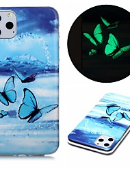 cheap -Case For Apple iPhone  SE 2020 iPhone 11 Pro iPhone 11 Pro Max XR XS Max 7 8 Plus 6 5G Glow in the Dark Pattern Back Cover Butterfly TPU