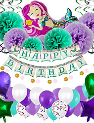 cheap -Party Balloons 47 pcs Mermaid Party Supplies Latex Balloons Banner Boys and Girls Party Decoration 10-18inch for Party Favors Supplies or Home Decoration