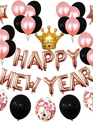 cheap -Party Balloons 44 pcs Happy New Year Party Supplies Latex Balloons Boys and Girls Party Decoration 12-18inch for Party Favors Supplies or Home Decoration