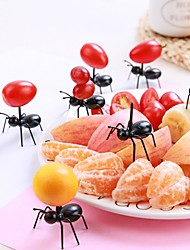 cheap -12pcs/Set Mini Fruit Ant Fork Cutlery Plastic Cake Dessert Forks Food Pick Table For Party Decoration Kitchen Tools