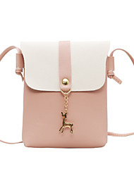 cheap -Women's Bags PU Leather Crossbody Bag Solid Color Leather Bag Daily Wine Black Blushing Pink Light Gray