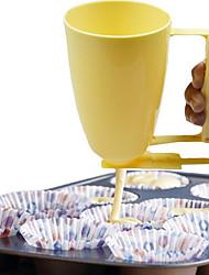 cheap -Batter Dispenser Plastic Handheld Cake Making Cup Pastry Meatball Mould Maker Donut Tool Kitchen Dessert Gadget