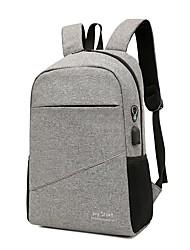 povoljno -Velika zapremnina Najlon Patent-zatvarač ruksak Jedna barva Sport & otvorenom Crn / Plava / purpurna boja