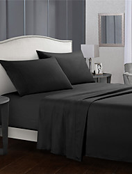 cheap -4 Piece Solid Color Bedding Sheets-Deep Pocket Warm-Super Soft-Breathable & Moisture Wicking Bed Sheets Set Include 1 Flat Sheet 1 Fitted Sheet 1 or 2 Pillowcases