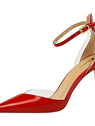 cheap -Women's Sandals Summer Stiletto Heel Pointed Toe Daily Solid Colored PU Nude / White / Black