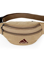 cheap -Women's Bags Canvas Fanny Pack Canvas Bag Daily Outdoor Black Khaki Green Brown