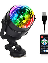 cheap -5V USB Remote Control Stage Light Disco Car Ball Light For Car Family Wedding Outdoor Party DJ Stage Lights Decoration Lamp With Adjustable Base