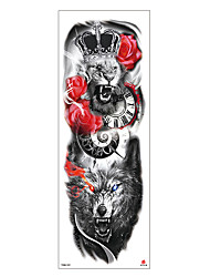 cheap -6 Sheets Randomly Tattoo Designs Temporary Tattoos Sexy EFlower Full Arm Temporary Tattoos Full Arm Tattoo Stickers Environmentally Friendly Non-Toxic Waterproof And Durable For Men And Women