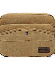 cheap -Unisex Canvas Crossbody Bag Canvas Bag Black / Khaki / Green