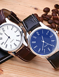 cheap -Men's Dress Watch Quartz Stylish Casual GMT Analog White Blue Black / White / One Year / Leather