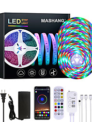 cheap -20M LED Strip Lights Waterproof RGB LED Light Music Sync 1200LEDs LED Strip 2835 SMD Color Changing LED Strip Light Bluetooth Controller and 24 Key Remote LED Lights for Bedroom Home Party
