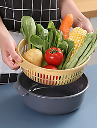 cheap -Wash Blanket Multifunctional Double-layer Separation Design Basket PP Material Wash Fruit Baskets Vegetables Fruits Blankets For Home Kitchen