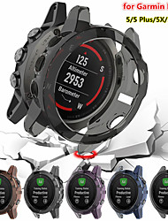 cheap -Protective Case Cover for Garmin Fenix 5 5 Plus 5X 5X Plus TPU Protection Cover Shell Smart Watch Bracelet Colorful Protective Cover Cover Hard Shockproof