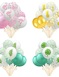 cheap -Party Balloons 15 pcs Pineapple Flamingo Turtle Leaves Party Supplies Latex Balloons Boys and Girls Party Wedding Decoration 12inch for Party Favors Supplies or Home Decoration
