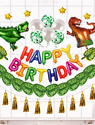 cheap -Party Balloons 45 pcs Dinosaur Cartoon Party Supplies All Birthday Decoration 12inch for Party Favors Supplies or Home Decoration / Kids
