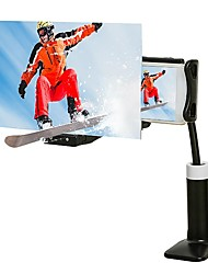cheap -Mobile Phone 3D Screen Amplifier Holder Magnifier Projection Bracket Adjustable Flexible Full Angle Tablet Holder 3D Magnifying