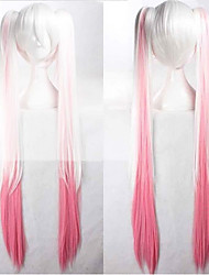 cheap -Cosplay Costume Wig Synthetic Wig Cosplay Wig Hatsune Miku Vocaloid Straight Cosplay With 2 Ponytails Wig Pink Very Long Blonde Grey Pink White Green Synthetic Hair 36 inch Women's Anime Cosplay Pink