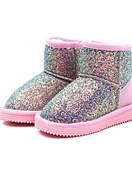 cheap -Girls' Snow Boots PU Boots Little Kids(4-7ys) Black / Pink / Blue Fall / Winter