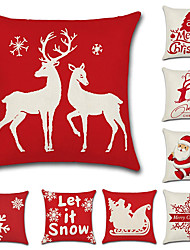 cheap -1 Set of 9 pcs Christmas Series  Decorative Linen Throw Pillow Cover 18 x 18 inches 45 x 45 cm