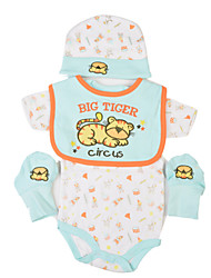 cheap -Reborn Baby Dolls Clothes Reborn Doll Accesories Cotton Fabric for 17-18 Inch Reborn Doll Not Include Reborn Doll Tiger Soft Pure Handmade Girls' 4 pcs