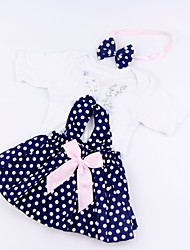 cheap -Reborn Baby Dolls Clothes Reborn Doll Accesories Cotton Fabric for 17-18 Inch Reborn Doll Not Include Reborn Doll Butterfly Soft Pure Handmade Girls' 3 pcs