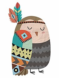 cheap -Indian Owl  Wall Stickers Decorative Wall Stickers, PVC Home Decoration Wall Decal Wall Decoration / Removable