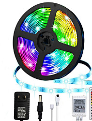 cheap -LED Strip Lights 5m RGB Color Changing Lighting Strip Tape Lights 300 LED 2835 Strip Rope Light with 44 Keys Remote Control Dimmable Mood Lighting for Home TV Kitchen DIY Decoration