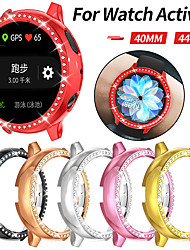 cheap -Bling Diamonds Watch Case for Samsung Galaxy Active 2 44mm 40mm Shiny Cover Crystal Bumper PC Plated Hard Protective Frame