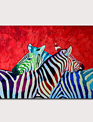 cheap -Mintura Large Size Hand Painted Modern Abstract Zebra Animals Oil Painting on Canvas Pop Art Wall Pictures For Home Decoration No Framed Rolled Without Frame