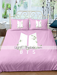 cheap -BTS Home Textiles 3D Bedding Set  Duvet Cover with Pillowcase Bedroom Duvet Cover Sets  Bedding BTS