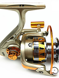 cheap -Fishing Reel Spinning Reel 5.2:1 Gear Ratio 12 Ball Bearings Easy to Carry for Sea Fishing / Freshwater Fishing / Trolling & Boat Fishing
