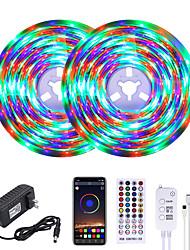cheap -MASHANG  32.8ft 10M RGB LED Strip Lights Waterproof Music Sync Smart LED Tiktok Lights 540LEDs 2835 Color Changing with 40 keys Remote Bluetooth Controller for Home Bedroom TV Back Lights DIY Deco