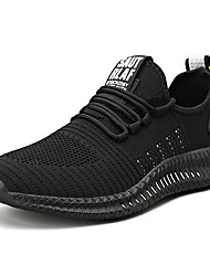 cheap -Men's Trainers Athletic Shoes Sporty Casual Athletic Daily Running Shoes Fitness & Cross Training Shoes Walking Shoes Tissage Volant Breathable Black / White Black / Yellow Orange / Black Fall Summer