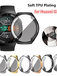 cheap -Screen Protector Case for Huawei Watch GT 2e TPU Rugged Bumper Case Cover All-Around Protective Plated Bumper Shell Accessories Scratch-Proof Compatible