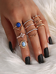 cheap -Women's Ring 10pcs Gold Alloy Classic Elegant Trendy Party Evening Gift Jewelry Classic Blessed