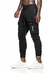 cheap -Men's Joggers Jogger Pants Track Pants Sports Pants Sweatpants Athletic Bottoms Drawstring Cotton Fitness Gym Workout Performance Running Training Breathable Quick Dry Soft Normal Sport Dark Grey
