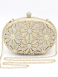 cheap -Women's Bags Alloy Evening Bag Crystals Wedding Bags Party Event / Party Gold