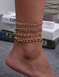 cheap -Leg Chain Classic Vintage Punk Women's Body Jewelry For Gift Holiday Link / Chain Alloy Lucky Gold 4pcs