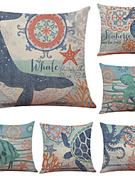 cheap -1 Set of 6 Pcs Linen Throw Pillow Covers Animal Print  Decorative Throw Pillow Case Cushion Case for Room Bedroom Room Sofa Chair Car, Panda Print,18 x 18 Inch