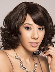 cheap -Human Hair Wig Short Silky Straight Pixie Cut Side Part Brown Women Adorable Best Quality Capless Brazilian Hair Burmese Hair Women's Medium Brown#4 14 inch